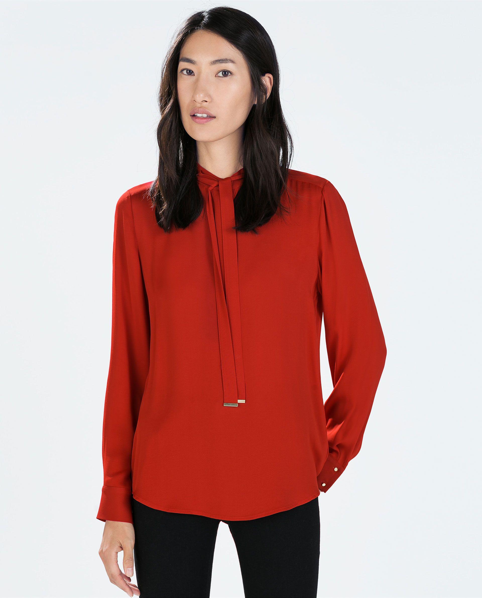 rote bluse zara