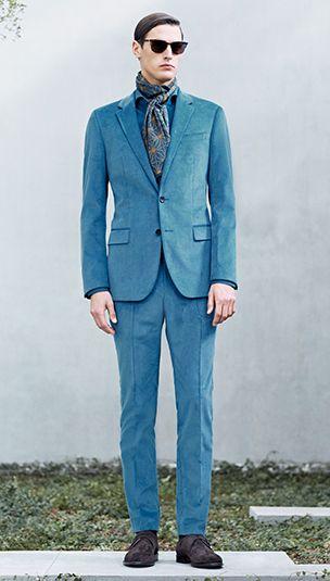 hugo boss anzug blau cord stilpalast. Black Bedroom Furniture Sets. Home Design Ideas