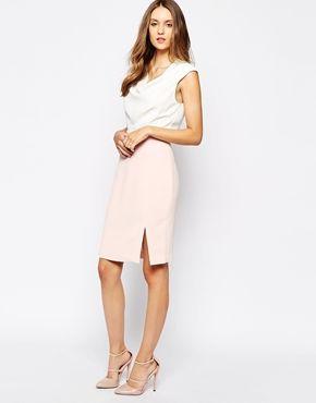 Kleid A Frau Kleid zweifarbig feminin Reiss Stilpalast 75852e6224