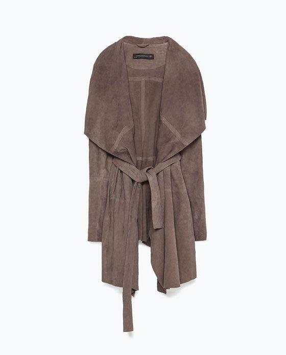 Jacke A-Typ Frau Wildlederjacke lang Zara | Stilpalast