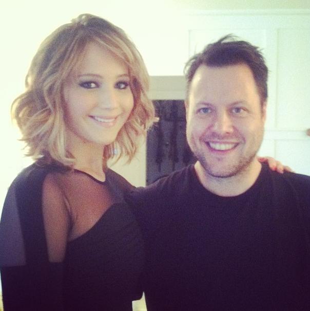 Haar-Colorierungen nac... Jennifer Lawrence Instagram