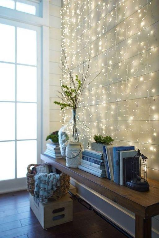 Dekoideen mit lichterketten stilpalast - Wand lichterkette ...
