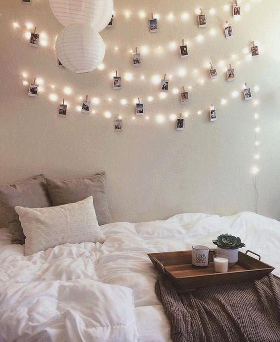 dekoideen mit lichterketten stilpalast. Black Bedroom Furniture Sets. Home Design Ideas