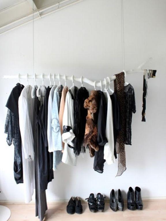 Befestigung Für Kleiderstange coole einrichtungsideen mit kleiderstangen