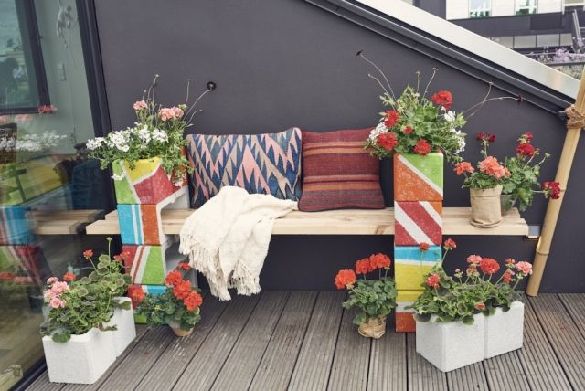 urban gardening mit geranien stilpalast. Black Bedroom Furniture Sets. Home Design Ideas