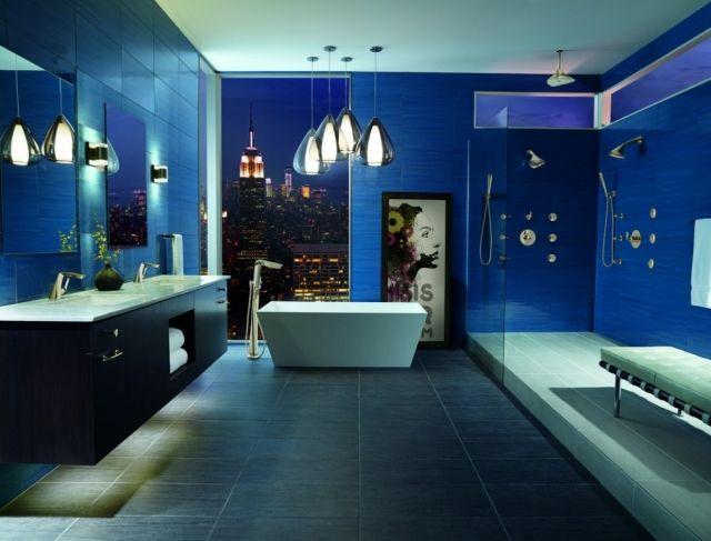 ... Master Badezimmer Standard. Kein Wunder, Wenn Die Sanitären Anlagen Und  Die Einrichtung So Opulent Sind, Wie In Diesem Blauen Traum An Der Park  Avenue.