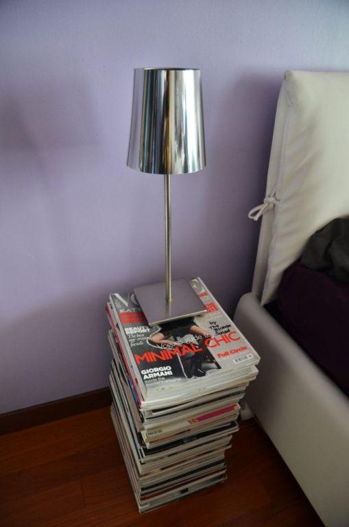Statt Deine Lieblingszeitschriften Bei Der Altpapiersammlung Zu Entsorgen,  Kannst Du Sie Auch Ganz Einfach Zu Einem Praktischen Nachttisch  Umfunktionieren.