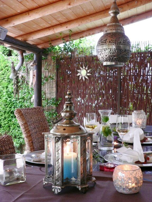 Sommerliche tischdeko ideen - Balkon orientalisch gestalten ...