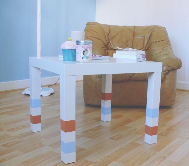 ikea hacks f r tisch lack. Black Bedroom Furniture Sets. Home Design Ideas