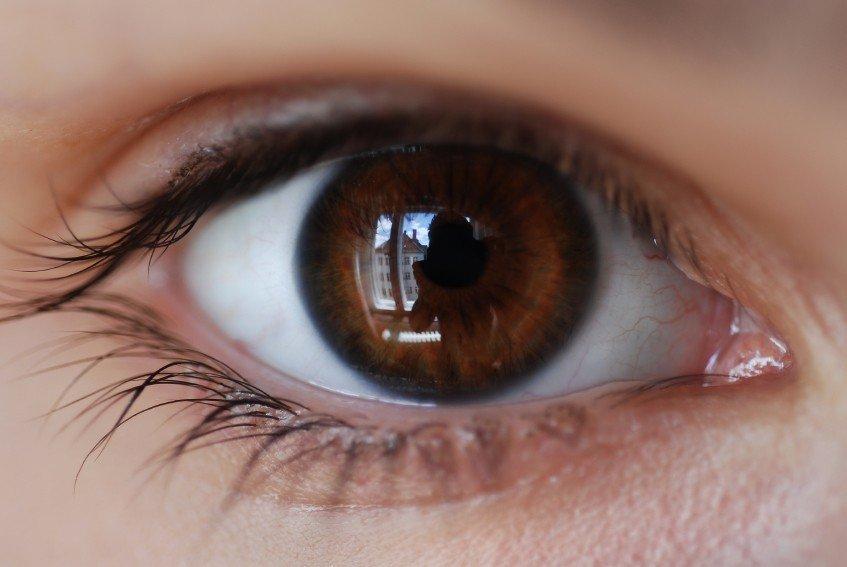 Augen menschen mit schwarzen Gibt es