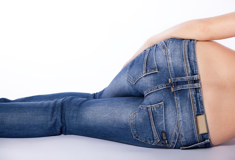 enge jeans unten