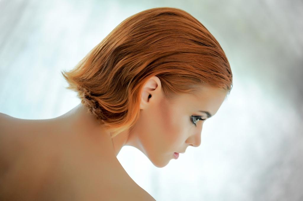 Mit haare braune strähnen kurze Kurze haare